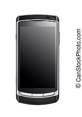 Isolated old mobile phone on white ground