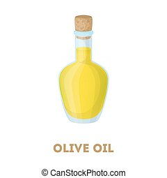 Isolated olive oil bottle.