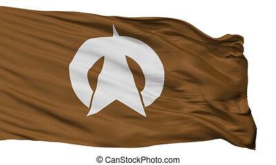 Isolated Omachi city flag, prefecture Nagano, Japan - Omachi...