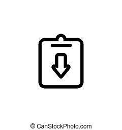 Isolated on white background. Assignment, deadline, incomplete icon vector image.