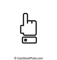 Isolated on white background. Attention finger icon.