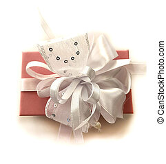 Isolated on white background Box with a gift