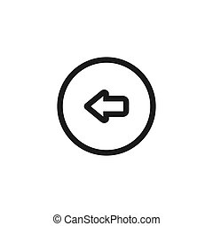 Isolated on white background. Left Rounded Arrow vector icon.