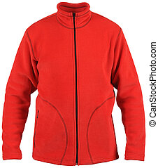 isolated on white male red sport jacket