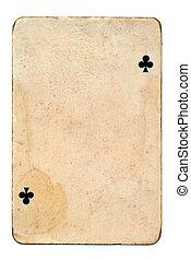 vintage playing card grunge background