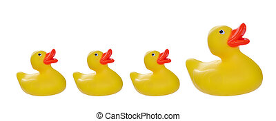 rubber duck - isolated on white yellow rubber duck and...