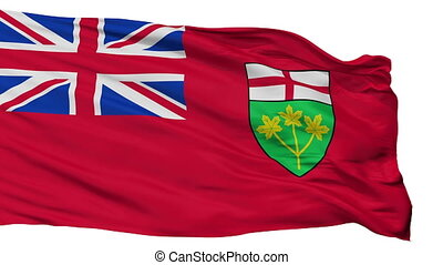 Isolated Ontario city flag, Canada - Ontario flag, city of...