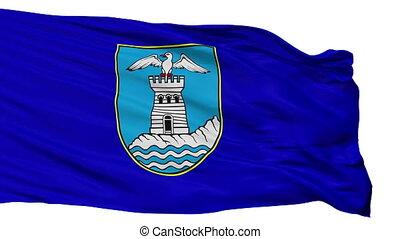 Isolated Opatije city flag, Croatia - Opatije flag, city of...