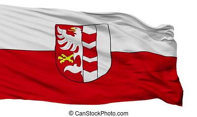 Isolated Opava Flag city flag, Czech Republic - Opava Flag...