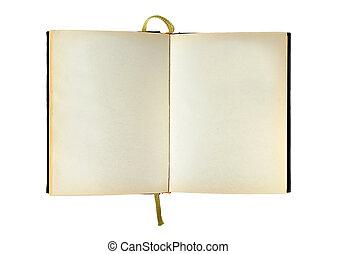 isolated opened blank notepad