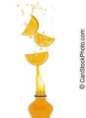 Orange drink splash