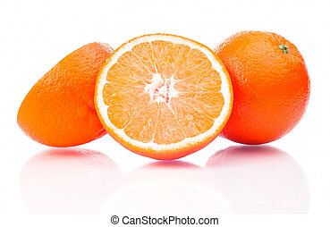 Isolated orange fruit on a white background