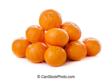 isolated., orange., mandarin, clementine, mandarin.