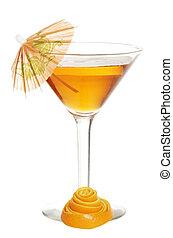 orange martini with peel