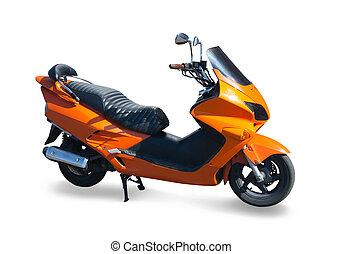 Isolated orange new scooter