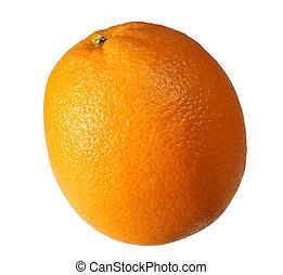 isolated orange - single naval orange isolated on white
