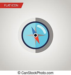 Isolated Orientation Flat Icon. Geography Vector Element Can Be Used For Orientation, Geography, Compass Design Concept.
