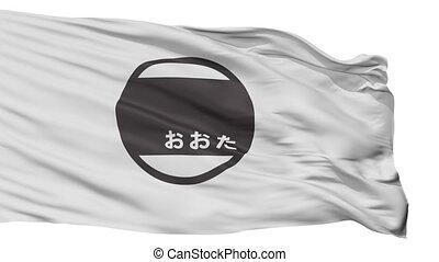 Isolated Ota city flag, prefecture Gunma, Japan - Ota flag,...
