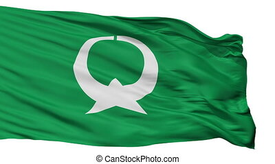 Isolated Otawara city flag, prefecture Tochigi, Japan -...