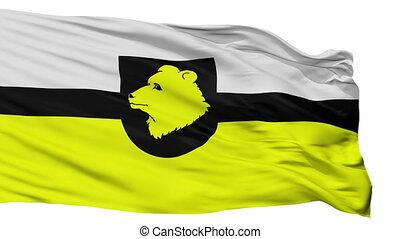 Isolated Otepaa Parish city flag, Estonia - Otepaa Parish...