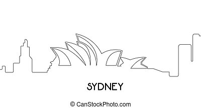 Isolated outline of Sydney