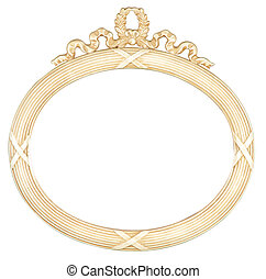 isolated oval mirror frame