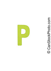 Isolated P capital letter