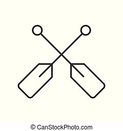 Paddle outline vector icon on white background