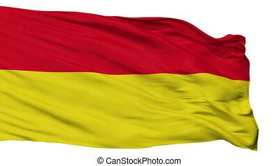 Isolated Paderborn city flag, Germany - Paderborn flag, city...