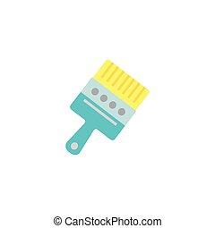 Isolated paint brush flat design