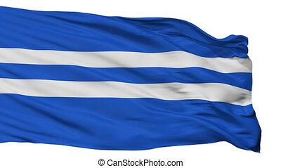 Isolated Paldiski city flag, Estonia - Paldiski flag, city...