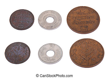 Isolated Palestine Coins - High Angle