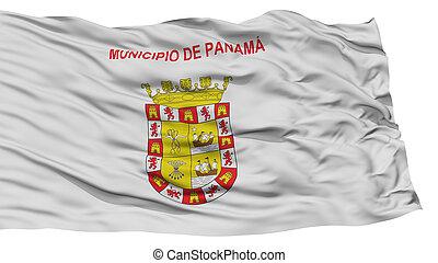 Isolated Panama City Flag