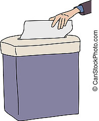 Isolated Paper Shredder
