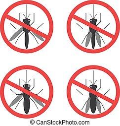 isolated., parar la muestra, vector, negro, mosquito,...