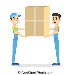 Isolated parcel movers.