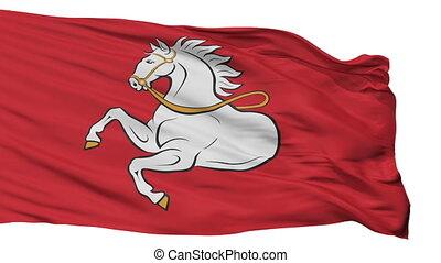 Isolated Pardubice city flag, Czech Republic - Pardubice...