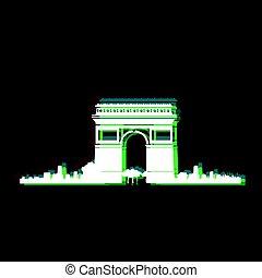 Isolated Paris cityscape