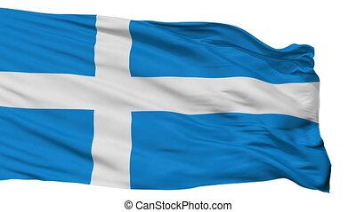 Isolated Parnu city flag, Estonia - Parnu flag, city of...