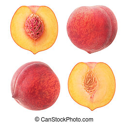Isolated peaches collection