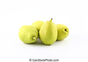 Isolated Pear over white background