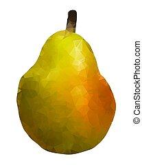 Isolated pear triangle