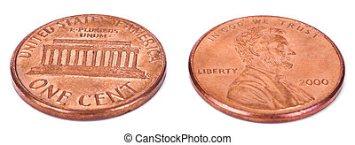 Isolated Penny - Both Sides High Angle