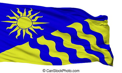Isolated Penticton city flag, Canada - Penticton flag, city...