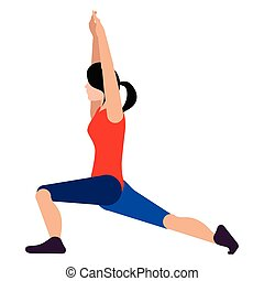 Isolated person stretching icon. Vector illustration design