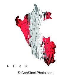 Isolated Peruvian map