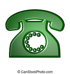 isolated phone green