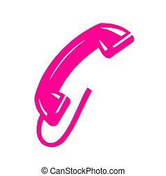 isolated phone receiver pink