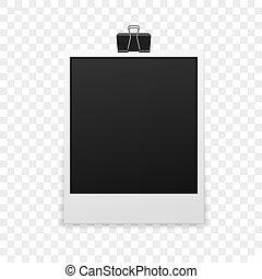 Photo frame polaroid template on transparent grid isolated isolated photo frame pronofoot35fo Gallery