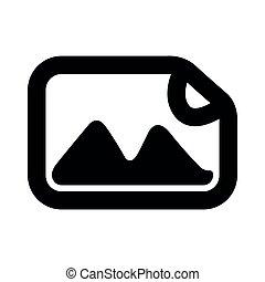 Isolated photo icon